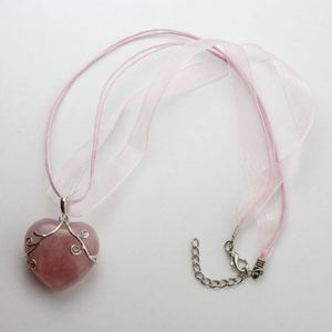 Jewelry - Rose Quartz Heart Candy Necklace